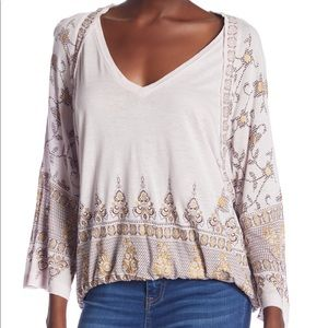 Free People Medallion Print Top